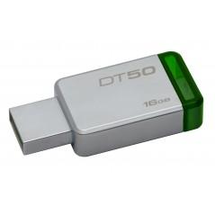Kingston Technology DataTraveler 50 16GB lecteur USB flash 16 Go USB Type-A 3.0 (3.1 Gen 1) Vert, Argent